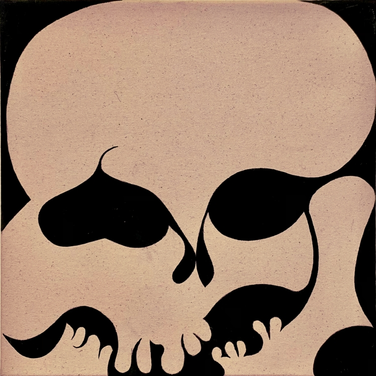 Painting of a skull